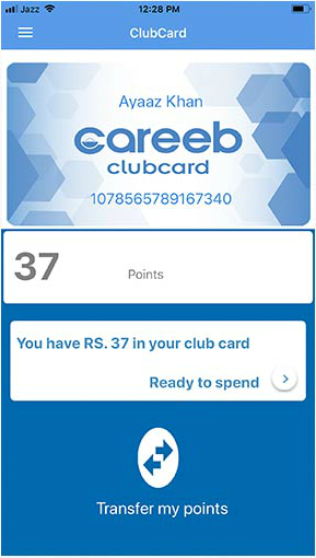 Careeb Club Card