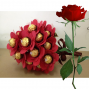 Ferrero Rocher Bouquet with Red Rose
