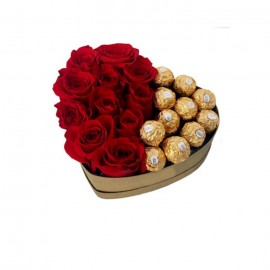 Ferrero Rocher Chocolates In Heart Box Small
