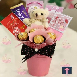 Pink Baby Chocolate Bucket