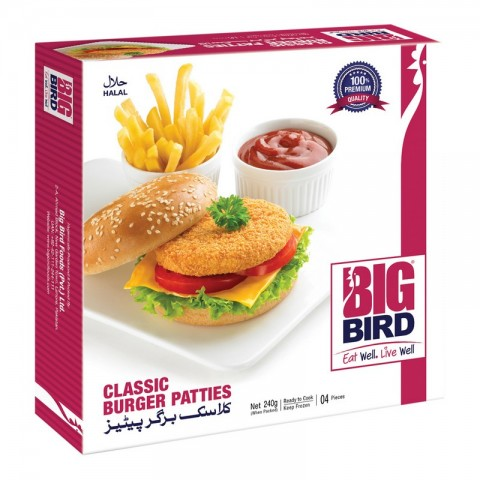 Big Bird Classic Burger Patties 240g