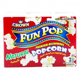 Crown Fun Popcorn Natural 297g