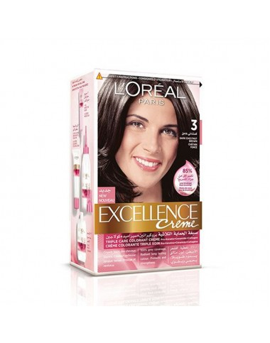 L'Oreal Hair Color Excellence Creme 3