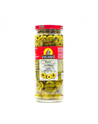 Figaro Sliced Green Olives 340g