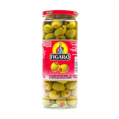 Figaro Green Stuffed Olives 450g