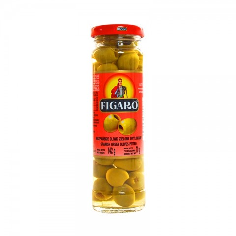 Figaro Green Olives Pitted 142g