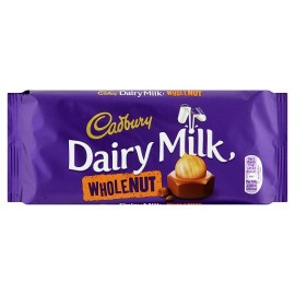 Cadbury Dairy Milk Chocolate (whole Nut) 120g