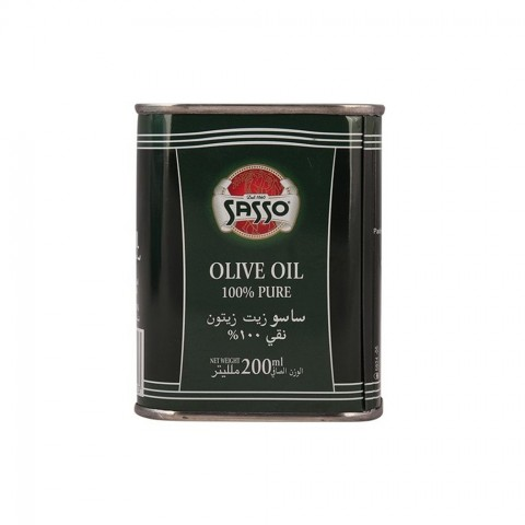 Sasso Olive Oil Pure 200 ml Tin