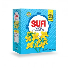 Sufi Canola Cooking Oil (5 Pouch)