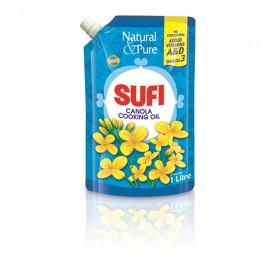Sufi Canola Cooking Oil Standing Pouch 1 Ltr