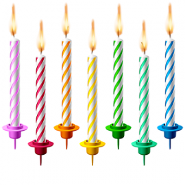 Birthday Sparkle Candle 6 Pcs