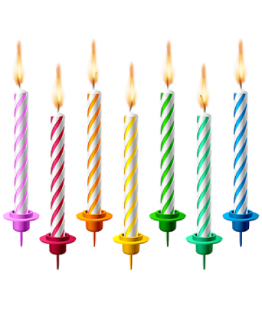 Birthday Candle Mid 12 Pcs