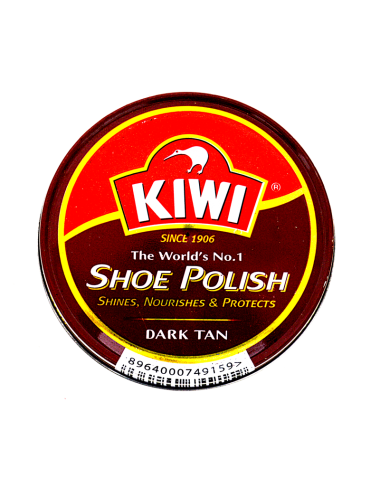 Kiwi Shoe Dark Tan Polish 90ml