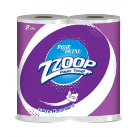 Rose Petal Zzoop Tissues Paper Towel – 2 Ply (twin Pack)
