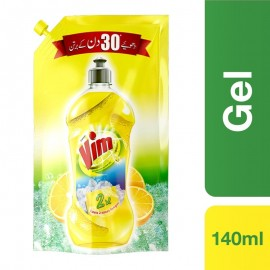 Vim Dishwash Gel Lemon 140ml