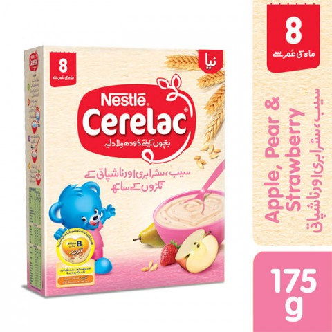 Nestle Cerelac (APPLE, PEAR, STRAWBERRY) 175g