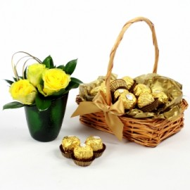 Ferrero Rocher Chocolate Gift Basket Set