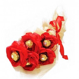 Valentine Chocolate Bouquet Red
