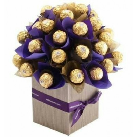 Ferrero Rocher Chocolate Bouquet Purple (Large)