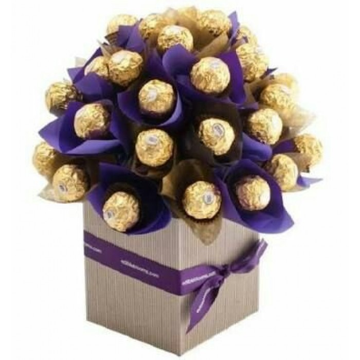 Buy Ferrero Rocher Chocolate Bouquet Purple Large