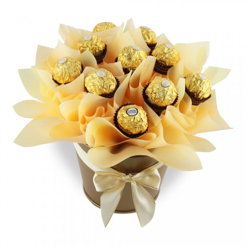 Ferrero Rocher Chocolate Bouquet Pot (Standard)