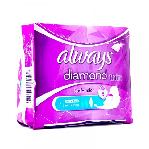 Always Diamond Pads Extra Long (7 Pcs)