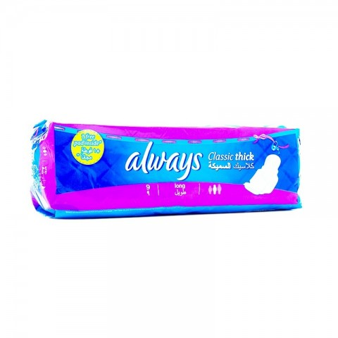Always Pads Classic Thick With Wings (9 Pcs)