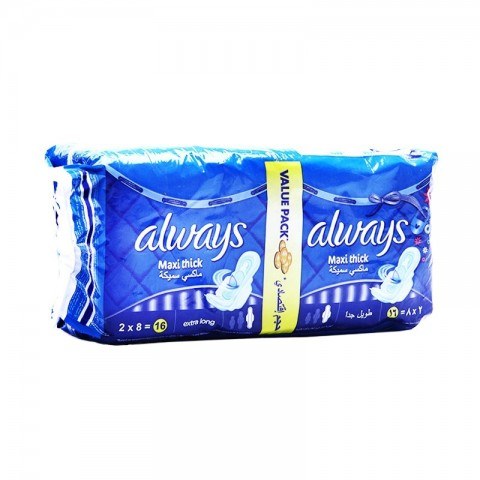 Always Pads Maxi Thick Extra Long (16 Pcs)