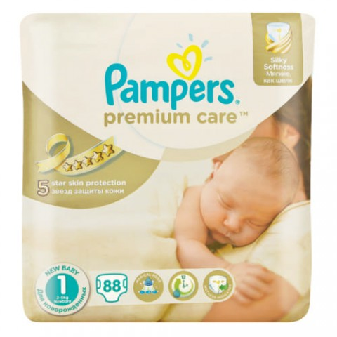 Pampers Premium Care Size 1 (88 Pcs)