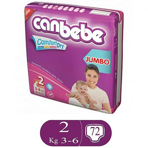 Canbebe Comfort Dry Size 2 (72 Pcs)