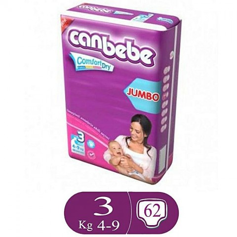 Canbebe Comfort Dry Size 3 (62 Pcs)