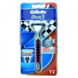 Gillette Blue 3 Red Razor 1 Up