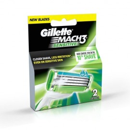 Gillette Mach3 Sensitive Blades 2 Carts