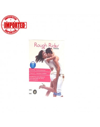 Rough Rider Condom Pink - 12 Pcs