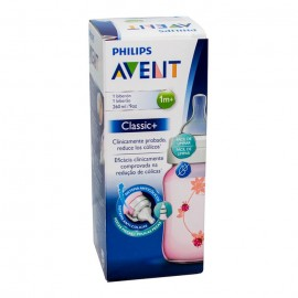 Philips Avent Feeding Bottle Classic Pink 260 Ml