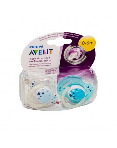 Philips Avent Orthodontic Night Time 0-6M Soother