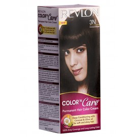 Revlon Permanent Hair Color Cream Darkest Brown-3n