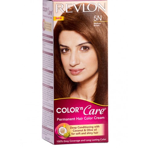 Revlon Color N Care Permanent Hair Color Cream Medium Brown-5N