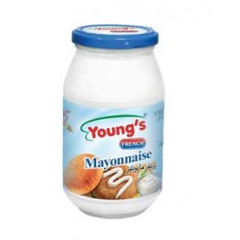 Young's Mayonnaise Glass Jar