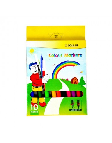 Dollar Colour Marker (Pack Of 10)