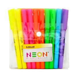 Dollar Highlighter Neon (pack Of 10)