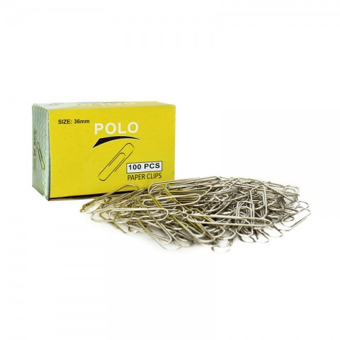 Polo Paperclip 36mm (Pack Of 100)