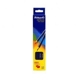 Pelikan Hb With Eraser 12 Pieces