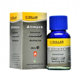 Dollar Allmark Permanent Ink (blue) 15ml