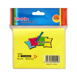 Jinxin Colour Sticky Notes (3x4 Inch)