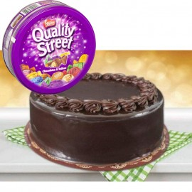 Chocolate Fudge Cake With Quality Street Chocolate And Toffees