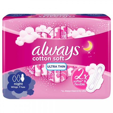 Always Cotton Soft Pad Long 7 Pads