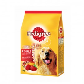 Pedigree Dog Food Adult Beef Flavor 3 Kg