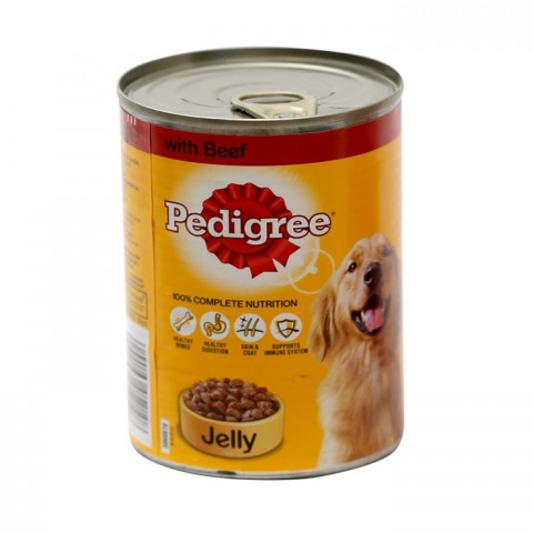 Pedigree Dog Food Beef In Jelly Tin 385g