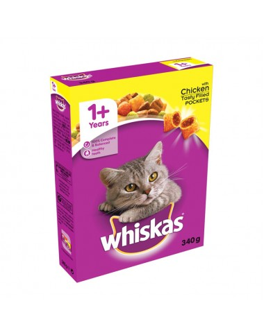 Whiskas Cat Food Chicken 340g